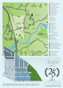 Map of the Camelot Development adjacent to central Coomera image